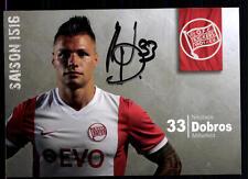 Nikolas Dobros Autogrammkarte Kickers Offenbach 2015-16 Original Sign+A 112951