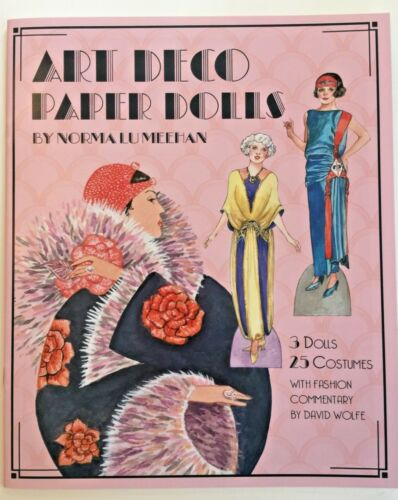 ART DECO Paper Doll Book--w/ 3 Dolls and 25 Gorgeous Period Fashions