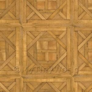 Dolls House Chantilly Large Panel Parquet With Cross Frame Floor Dollhouse Miniatures