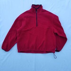 Woolrich-Men-039-s-Pullover-Size-XL-Polyester-Half-Zip-Red-LS
