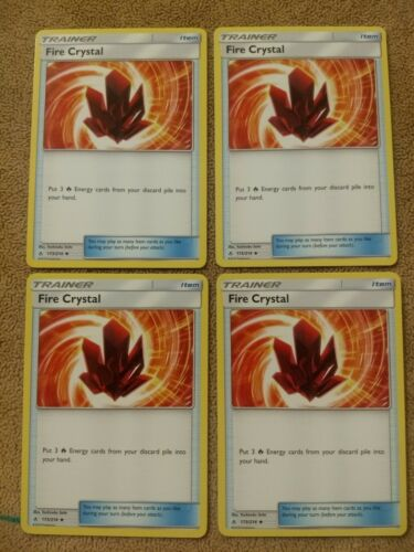 Pokemon 4 Fire Crystal playset NM