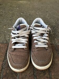 Nike Sb Dunk Low Size 9 Brown With Olive Green and purple Nike  2e416ebed4cf