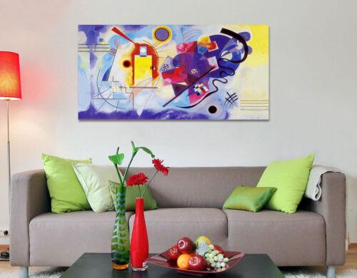 Quadro moderno Stampa su Tela Cotone cm.120x60 Astratto Kandinsky GR Arredo Casa