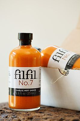 Filfil No.7: All Natural Garlic Hot Sauce, 8.0 oz