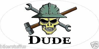 DUDE SKULL HELMET STICKER