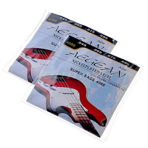2-Sets-Super-Bass-Nickelplated-Steel-Strings-040-095-034