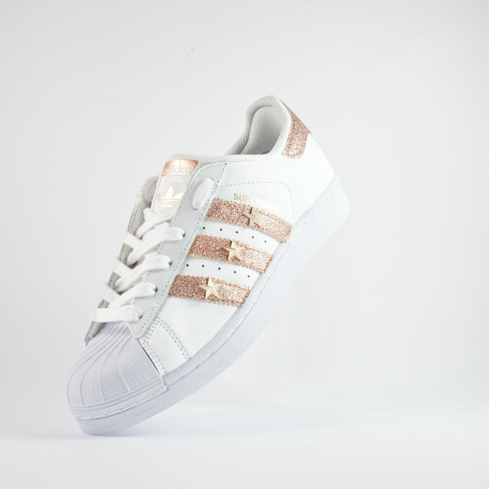 shoes adidas superstar con tessuto pink e stelle