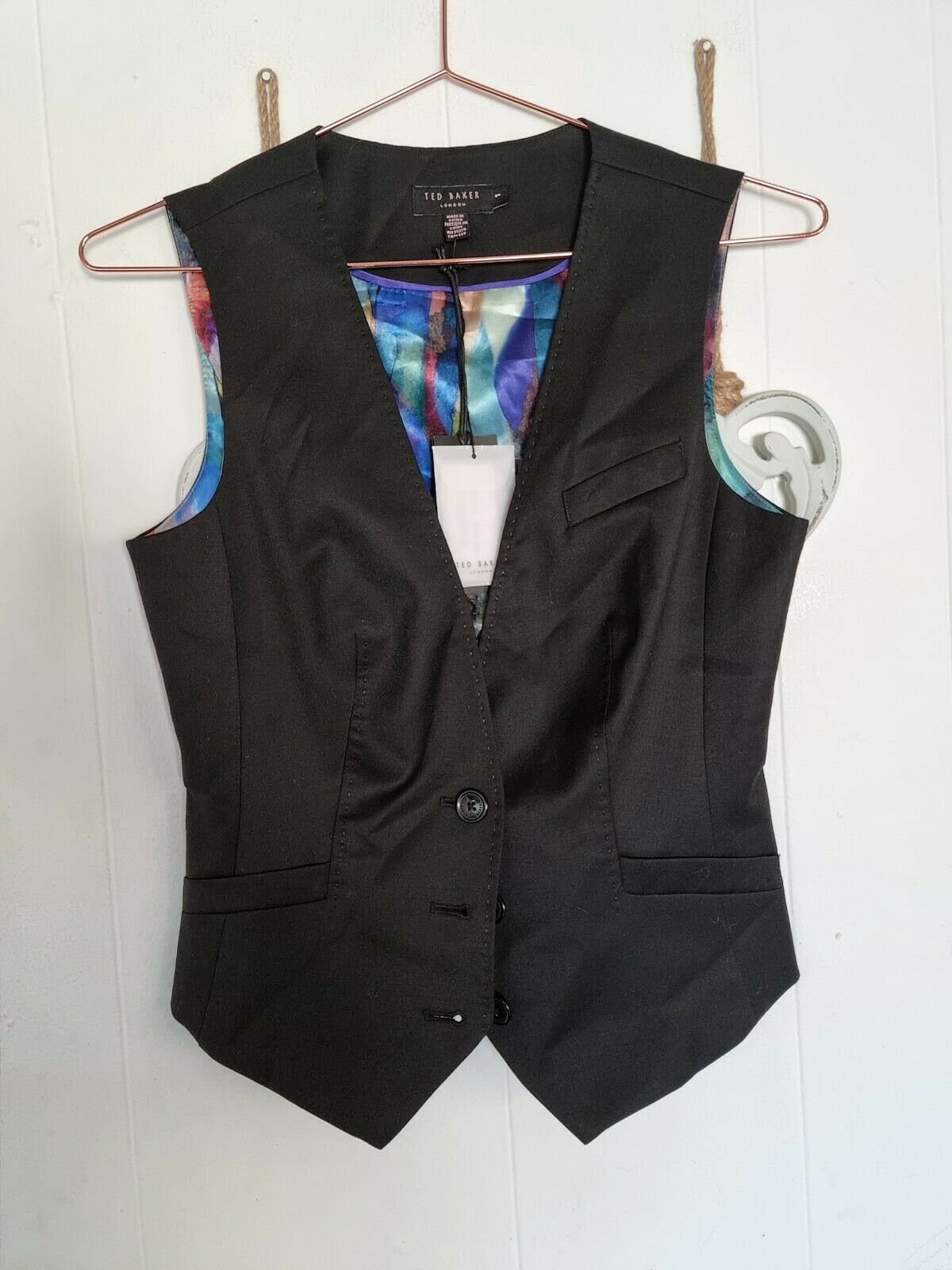 Brand New Ted Baker Houla Waistcoat Size 1, XS