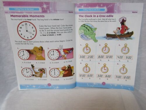 Disney Workbook Time and Money Homeschool Daycare NEW Adventures in Learning