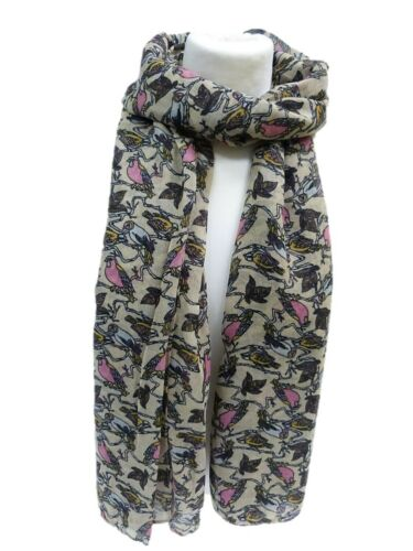 NEW Red Woodland Robin Red Breast Bird Print  Scarf  Wrap