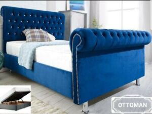Incredible Details About Chesterfield Ottoman Storage Bed Frame Solid Base Plush Velvet 4Ft Double Small Evergreenethics Interior Chair Design Evergreenethicsorg