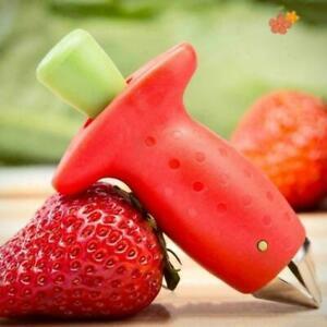 Strawberry-Berry-Leaves-Stem-Huller-Gem-Remover-Entfernung-Corer-AL-Kueche-F-W1V3