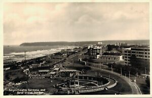 South-Africa-Amphitheatre-Gardens-and-Band-Strand-Durban-RPPC-03-42