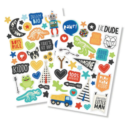 Simple Stories Lil Dude Collection Puffy Stickers 10241