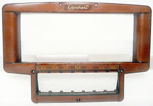 CAPEHART 111M3FM RADIO / PHONO: RADIO FACEPLATE w/ ORIGINAL SCREWS . no cracks