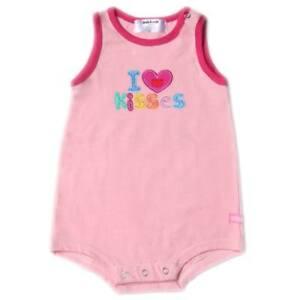 Oshkosh-B-gosh-I-Love-Kisses-Pink-S-L-Romper-3-months-crzyj