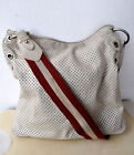 BALLY Perforated Leather Messenger Cross-body Bag Swiss Unisex Authentic Rare!