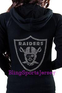 Image is loading Oakland-Raiders-Jersey-Rhinestone-Bling-Zipper-Hoodie -Sweater f64cc783b