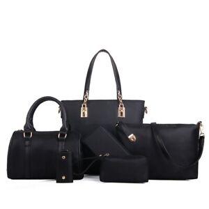6 Pcs Women Handbag Sets Las Womens