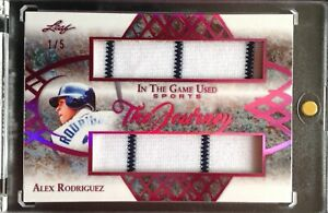 2019-Leaf-ITG-Game-Used-Alex-Rodriguez-Dual-Game-Used-Jersey-SP-NY-Yankees-1-5