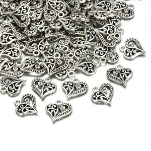 30pcs-Tibetan-Silver-Alloy-Hollow-Heart-Charms-Pendants-Findings-Crafts-DIY
