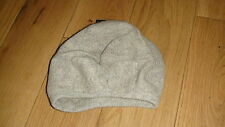 BNWT Grey Fine Knit Beret Angora Woolly Hat With Bow, Onesize