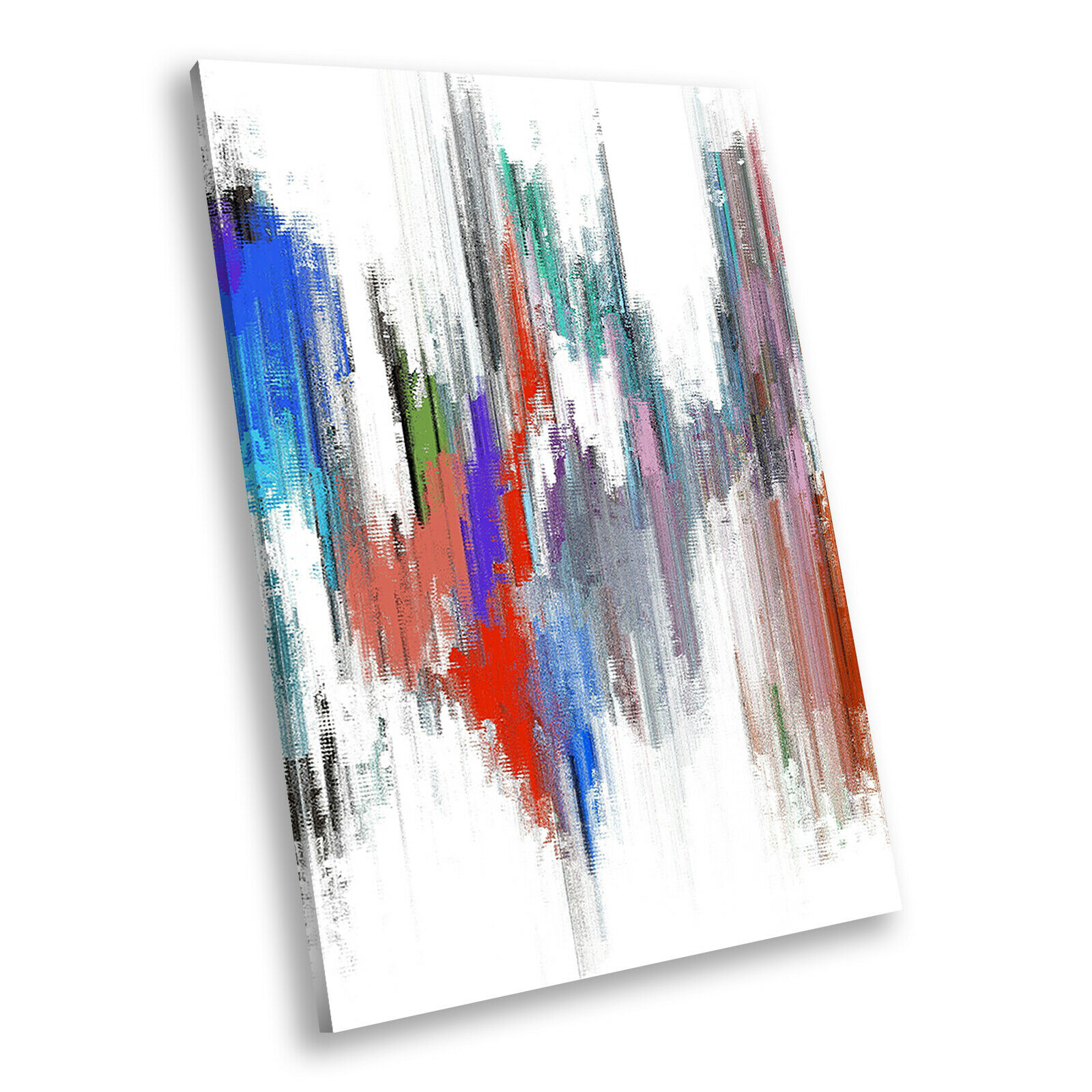Grün rot Blau Weiß Portrait Abstract Canvas Wall Art Large Picture Prints