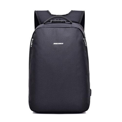Men Women Anti-Theft Travel Backpack USB Port Shoulder Bookbag Laptop School Bag