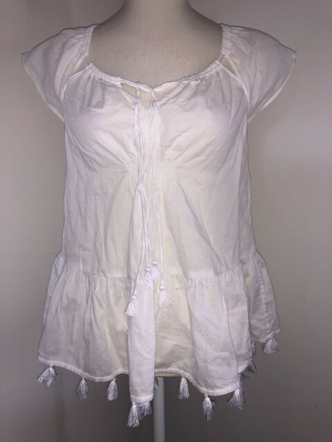 PRETTY COUNTRY ROAD WHITE SHIRT SIZE XXS