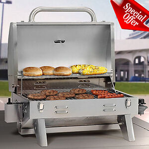 Superb Image Is Loading Portable Propane Gas Grill Stainless Steel Barbecue RV