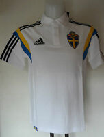 Sweden Football White Polo Shirt By Adidas Adults Size Medium Brand