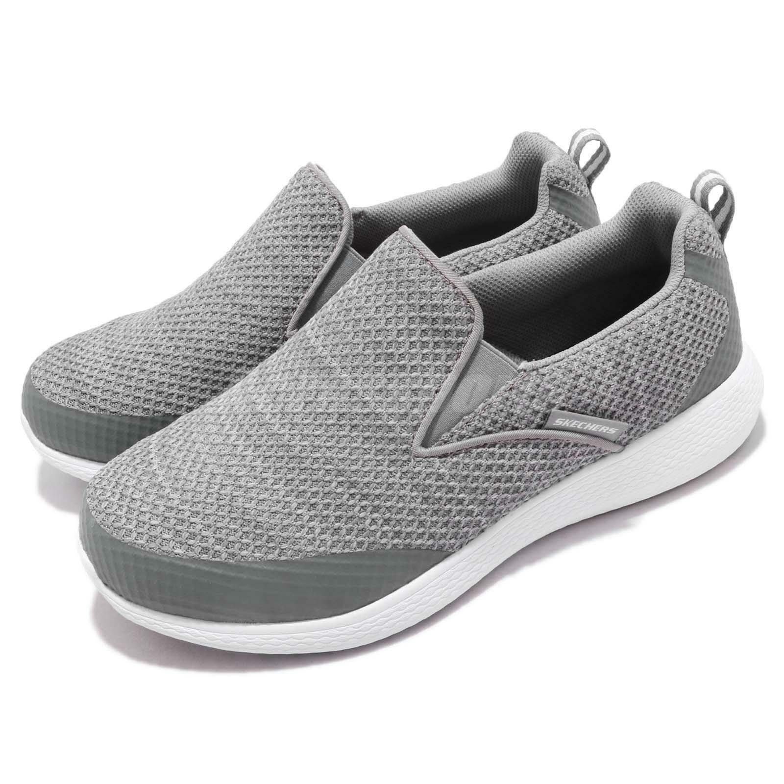 Skechers Kulow-WhiteWater Wide Grey White Men Casual Slip On shoes 52885W-GRY