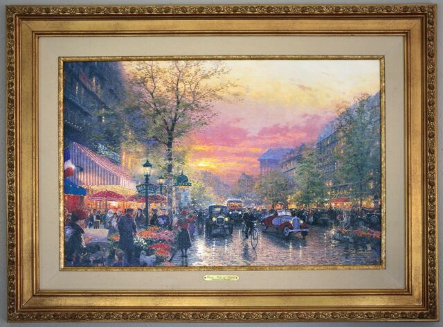 Thomas Kinkade Paris City Of Lights 18x27 Ebay