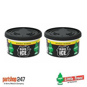 2 x Fiber Can Black Ice Little Trees Magic Tree Car Home Air Freshener Freshener