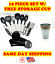 19pcs Kitchen Utensil Set Silicone Cooking and Stainless Steel WITH STORAGE CUP