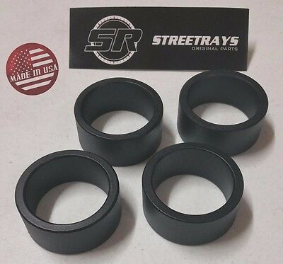 "StreetRays Yamaha Kodiak 350 400 450 700 ATV Complete 2.5/"" Lift Spacer Kit BLACK"