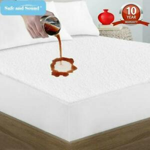Waterproof Mattress Cover Protector King Size Bed Bug Dust