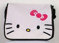 Hello Kitty Face Messenger Bag Full Size Large Messenger Shoulder Bag Bookbag