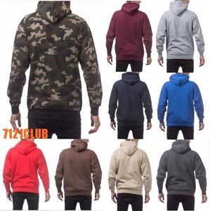 76621163f40 Details about PRO CLUB HOODIE PULLOVER ProClub Men s Heavyweight Plain  Hooded Sweatshirt S-7XL