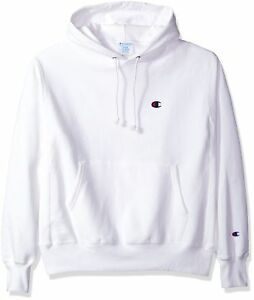 Champion LIFE Men s Reverse Weave Pullover Hoodie White Left Chest ... 4f87f11ad