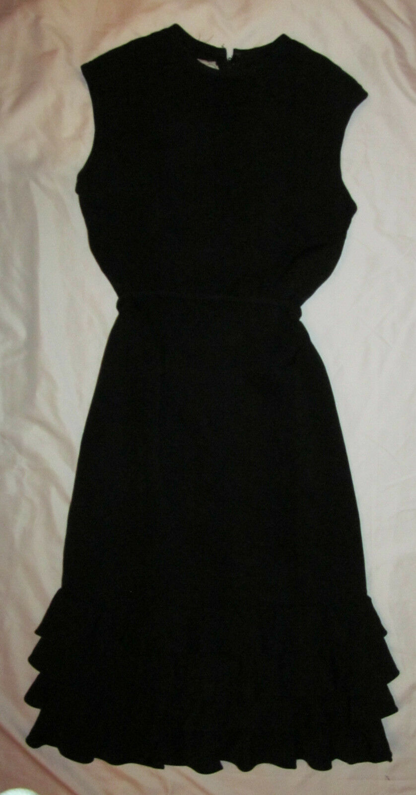 Vintage 40's SANDRA SAGE sleeveless ruched skirt wiggle pin up  dress S   M