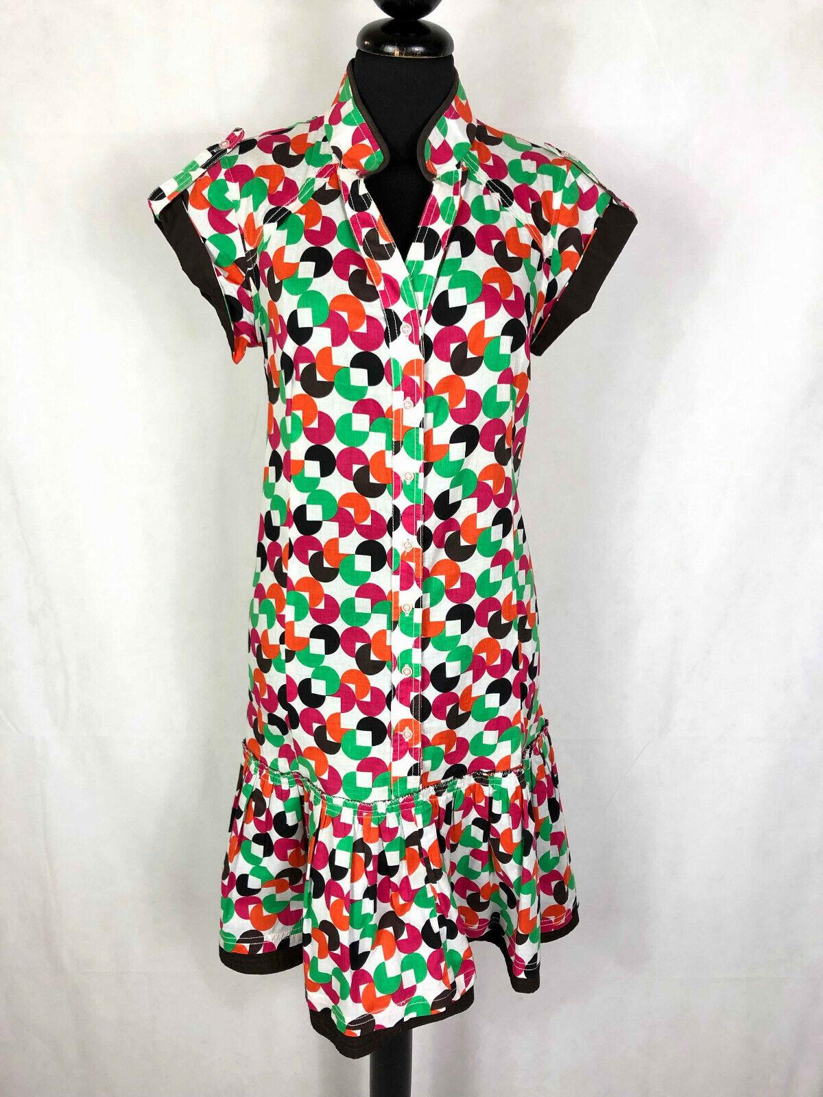KENZO PARIS Abito Vestito damen Cotone Pois Balze Woman Cotton Dress Sz.S - 42