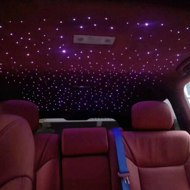 Car Use 10W RGBW Twinkle LED Fiber Optic Star Ceiling Lights Kit with cable