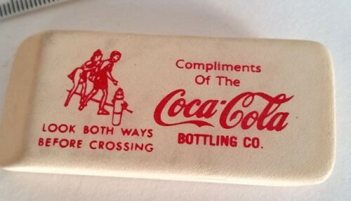 1950/'s Large Compliments of The Coca Cola Bottling Co Eraser Never Used
