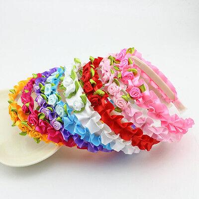 2pcs Baby-Blumen-Stirnband-Kinderblumen-Haar für Mädchen Hairband Headwear