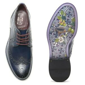 Burnished Leather Derby Brogue Lace-up