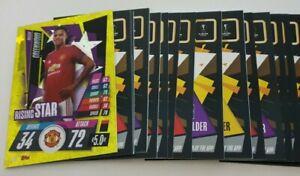 2020/21 Match Attax UEFA Champions - Lot of 20 cards inc Rising Star Greenwood