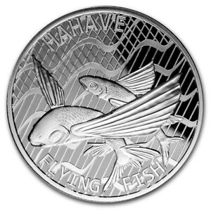 TOKELAU-5-Dollars-Argent-1-Once-Poisson-Volant-2020