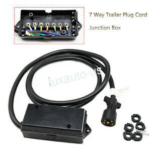 7 Way Trailer Connector Plug Cord Wire Harness&Junction Box For Camper Truck  RV | eBayeBay