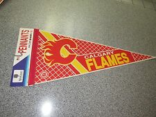 BRAND NEW VINTAGE WINCRAFT CALGARY FLAMES PENNANT NHL MADE IN USA DEADSTOCK